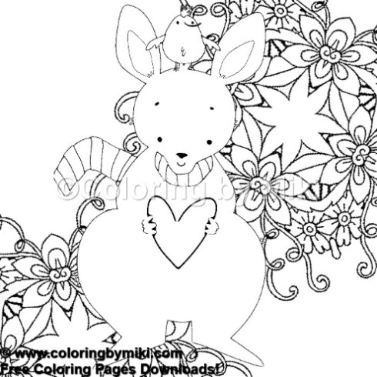Cute Kangaroo Coloring Page 478 Freeprintable Coloring