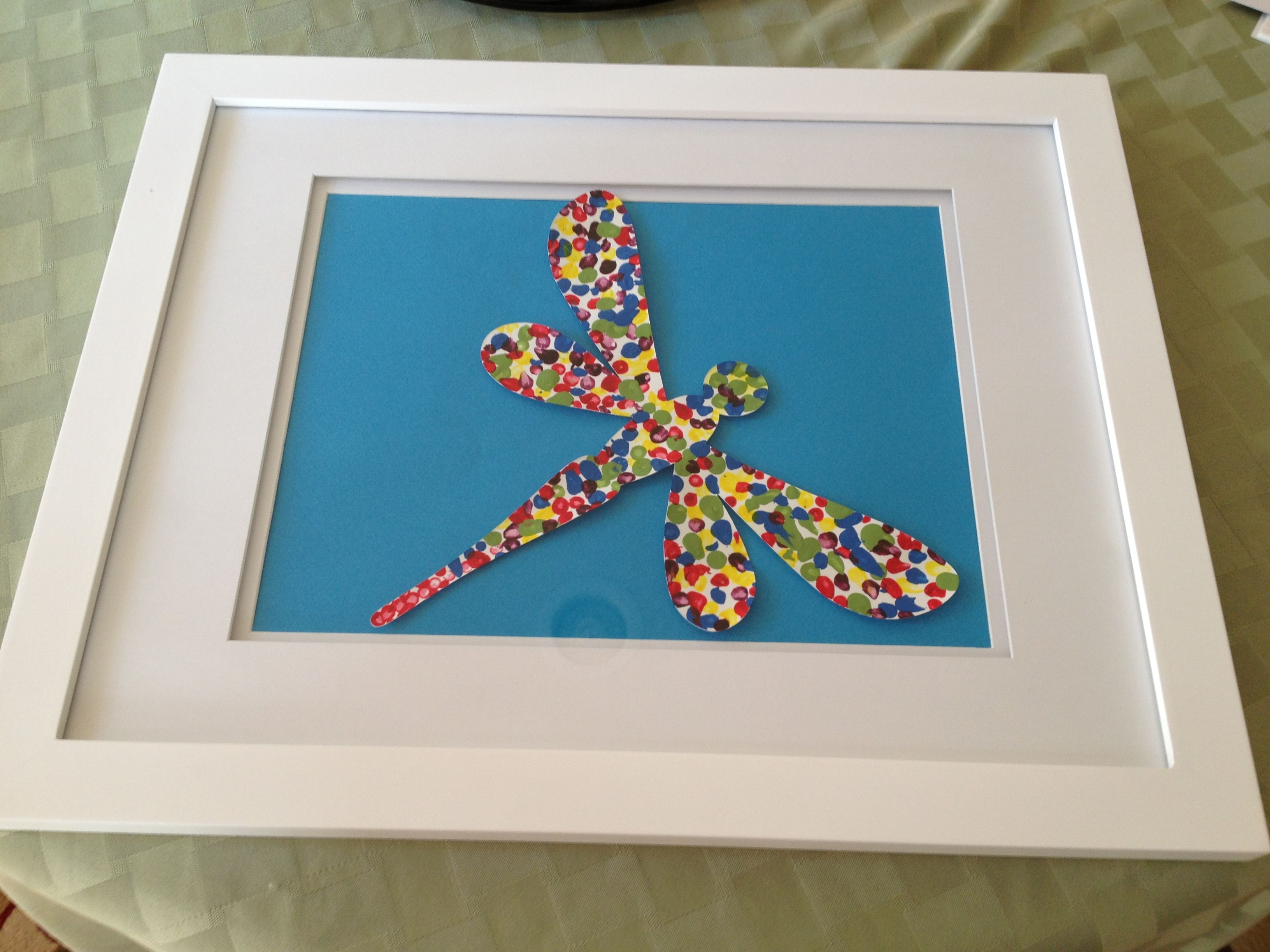 Dragonfly art. Easy kid art. great to do at home with kids, end