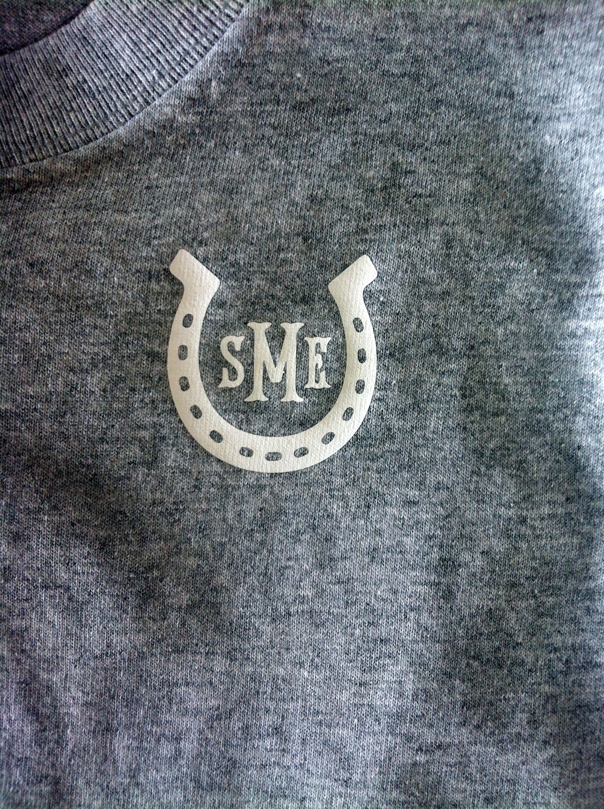 Heat Pressed Horseshoe Monogram Monograms Duck Logo