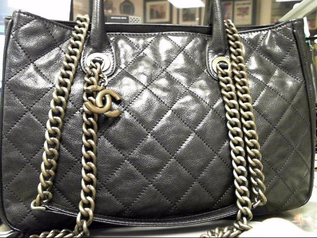 5c42fa7b4da690 $3500 CHANEL WASHED GLAZED CAVIA SHIVA BLACK TOTE Tough Bag to Find @CHANEL  @Steve Benson Mack @purseforum @purseforum @rarebags