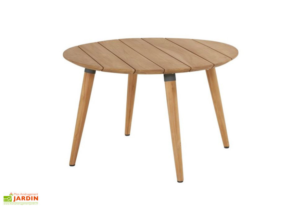 Table De Jardin Ronde En Bois De Teck Sophie Studio Teak 120 Cm Table De Jardin Ronde En Bo In 2020 Coffee Table Table Decor