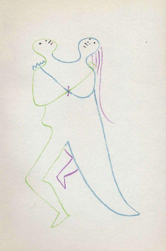 Jean Cocteau ORIGINAL Lithographie von 1957