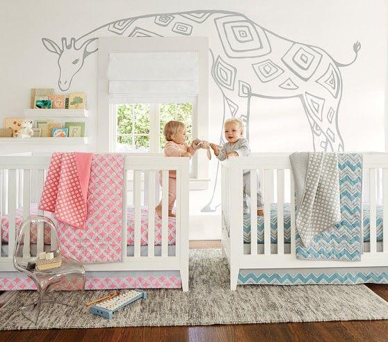 Soho Nursery Bedding | Pottery Barn Kids | Twin baby rooms ...