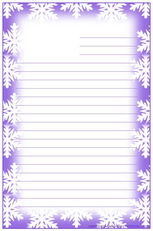 free printable christmas snowflake writing paper
