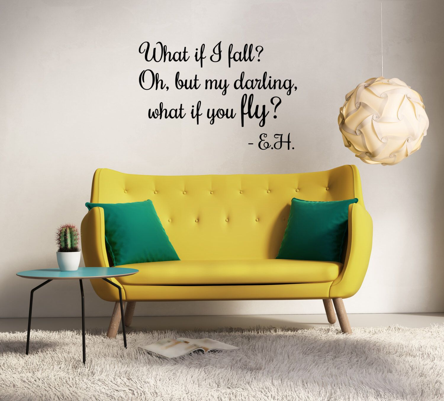 what if I fall? oh but my darling what if you fly? wall decal, what ...