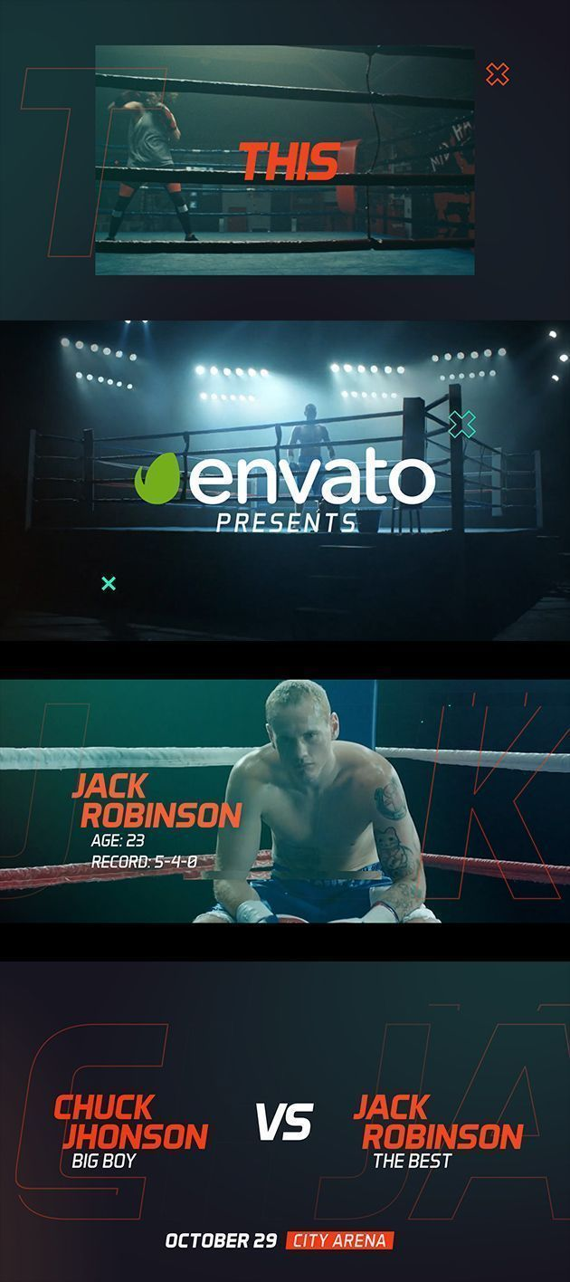Sport Event Promo - After Effects Template  #action #boxing #event #extreme #fight #fitness #intro #...