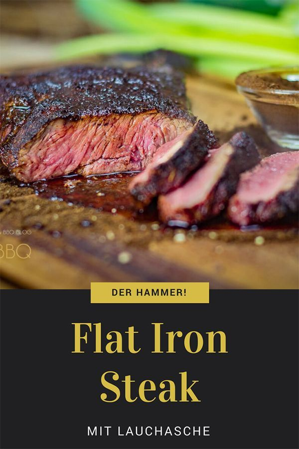 Photo of Leek ash on flat iron steak
