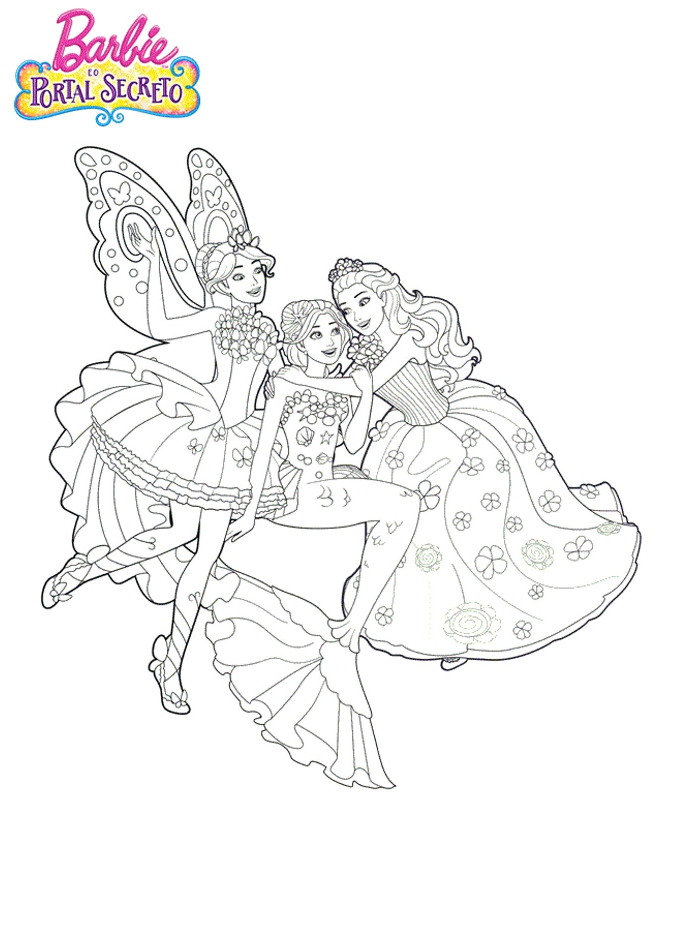 Resultado De Imagem Para Desenho Para Colorir De Barbie E As 12
