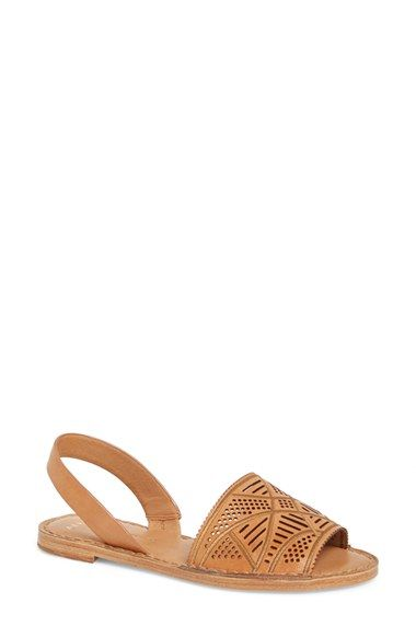 Aerin 'Kane' Perforated Leather Flat Sandal ...