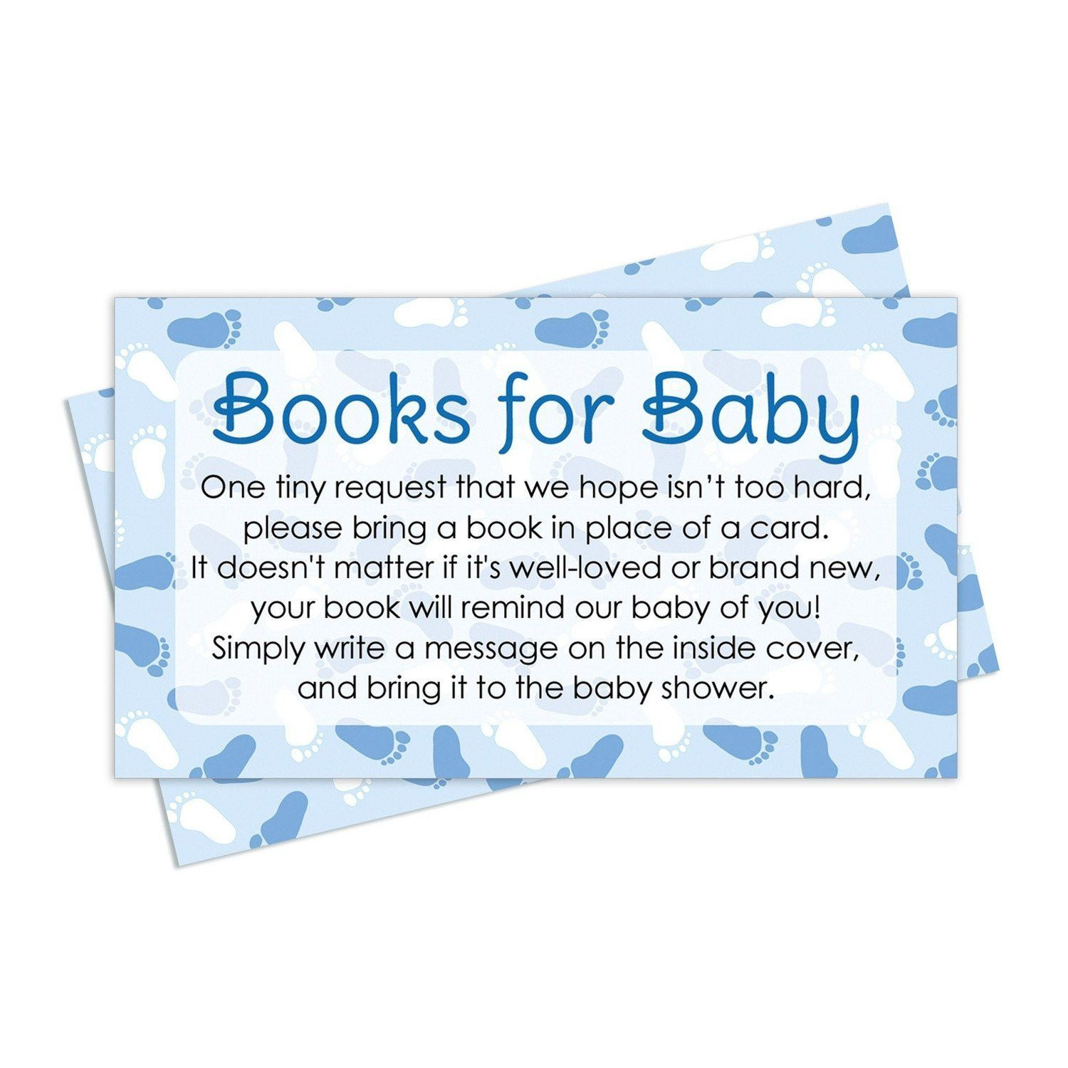 Boy Baby Shower   Books For Baby Request Cards (Set Of 20)