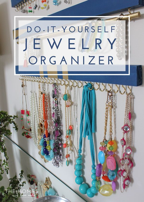 DIY Jewelry Organizer Diy jewelry organizer Simple diy and