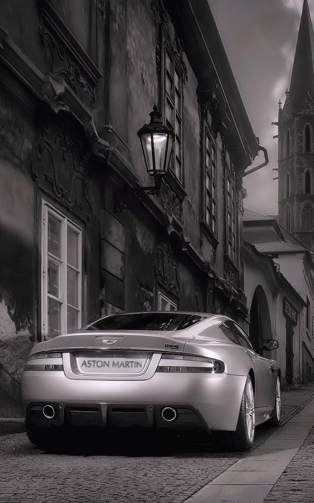 Black And White Aston Martin Back Mobile Wallpaper Iphone Android Samsung Pixel Xiaomi Aston Martin Dbs Aston Martin Aston