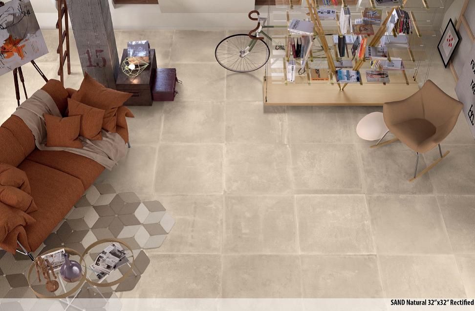 Sienna Clays Sand 32x32 Porcelain Tile