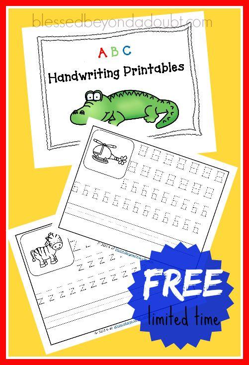 FREE Printable Handwriting Worksheets | Handwriting worksheets ...