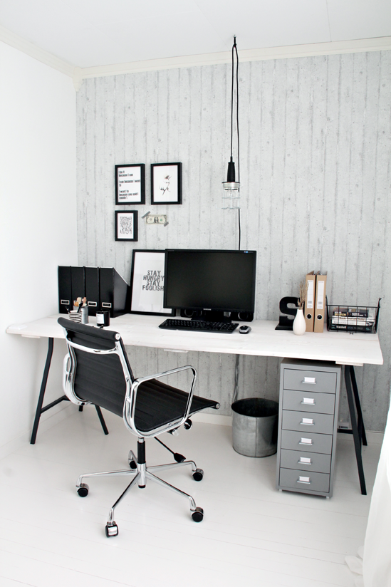 Home Office with Dark Furniture