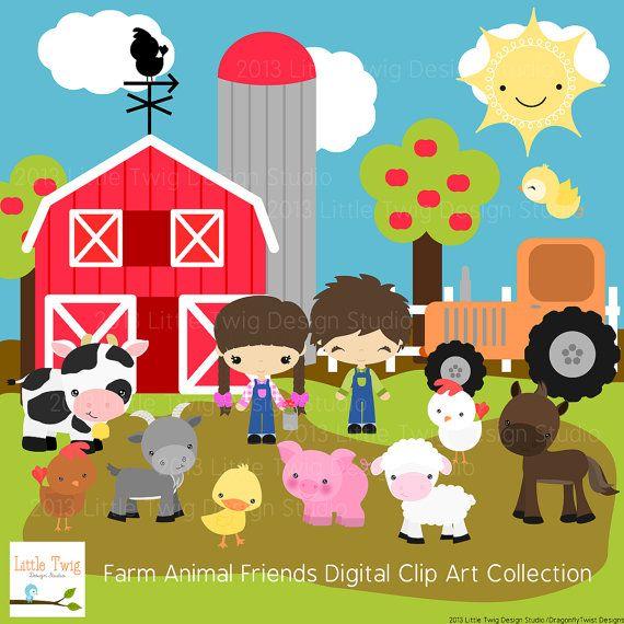 Our Farm Animals Digital  clip art Clipart by Dragonflytwist, $6.00
