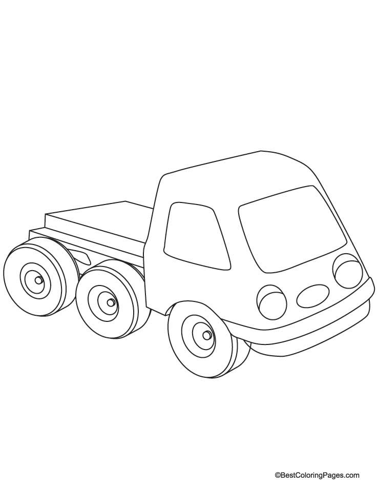 New Truck Coloring Page Download Free New Truck Coloring Page
