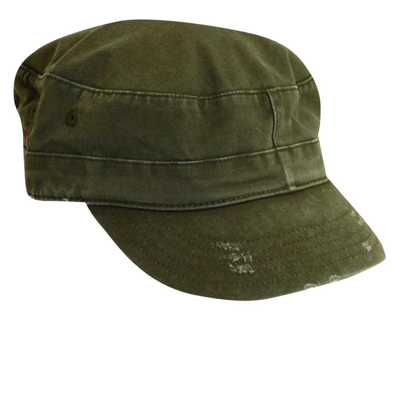4d43a74b9bb Military Style Cap (Distressed Cotton) by Dorfman Pacific. The latest style  in the hot distressed look. Features and Benefits  100% cotton Popular ...
