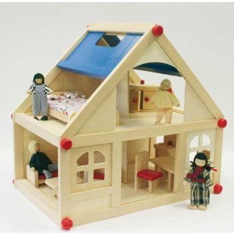 Dolls House With Furniture And Doll Family: Amazon.co.uk: Toys U0026 Games