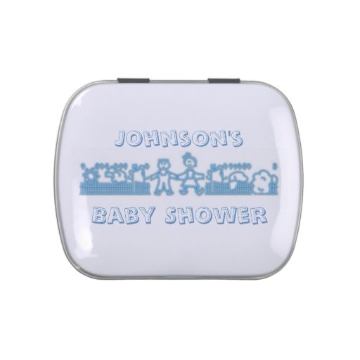 Blue Family - Baby Shower Favor Candy Tin