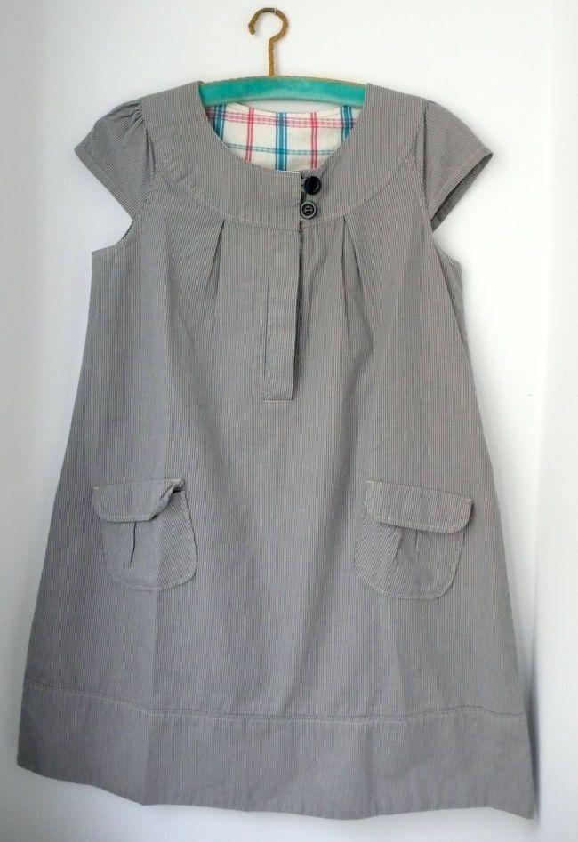 9385e8580 Vestido de Niña. Talla 13-14 años. Marca Zara, 164 cm. De algodón. #niñas  #vestido #rayas #trueque