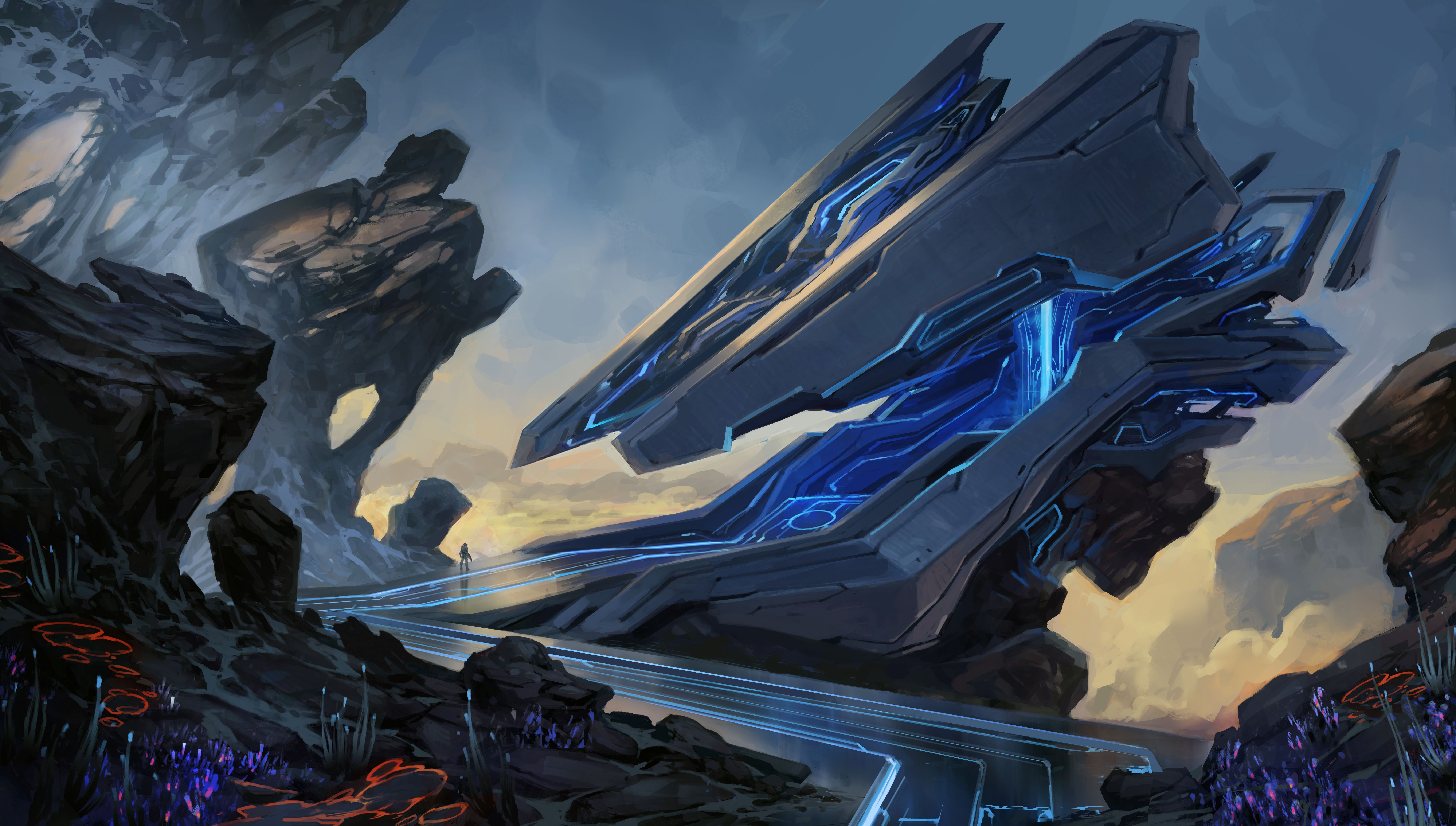 Here S A Ton Of Concept Art From Halo 5 Concept Art World Environment Concept Art Game Concept Art