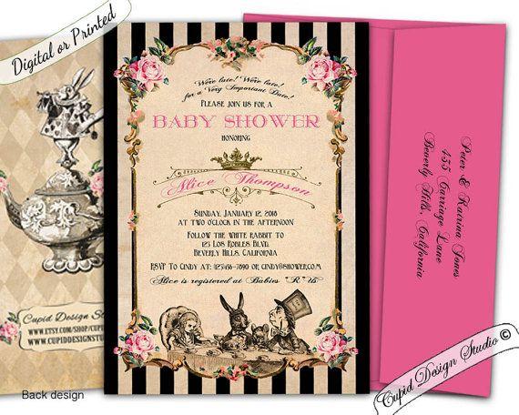 Alice In Wonderland Baby Shower Invitation Printable