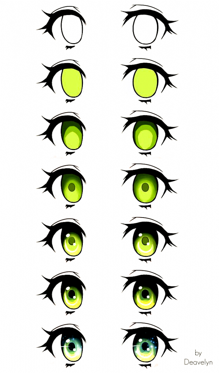 Digital Art Eyes Eye Tutorial By Maruvie Step By Step Digital Drawing Draw Painting For Beginner In 2020 Eye Drawing Tutorials How To Draw Anime Eyes Digital Drawing