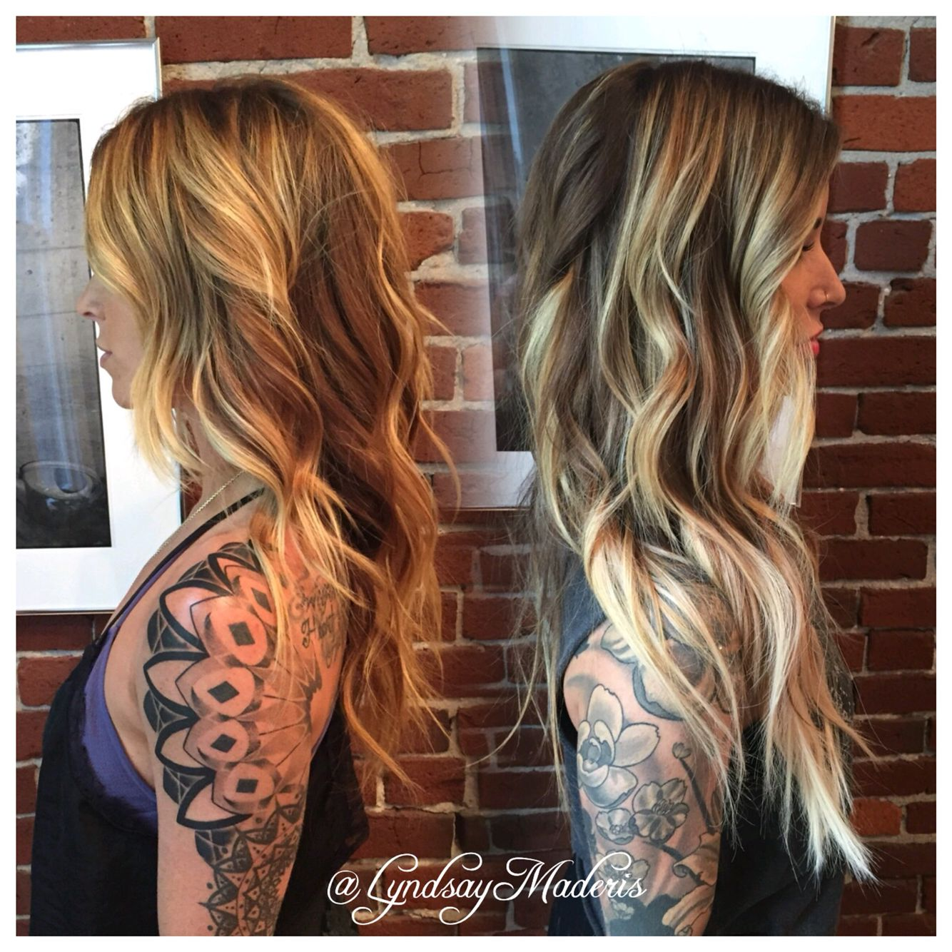 Added dramatic length and light to this gorgeous balayage ombr hair pmusecretfo Gallery