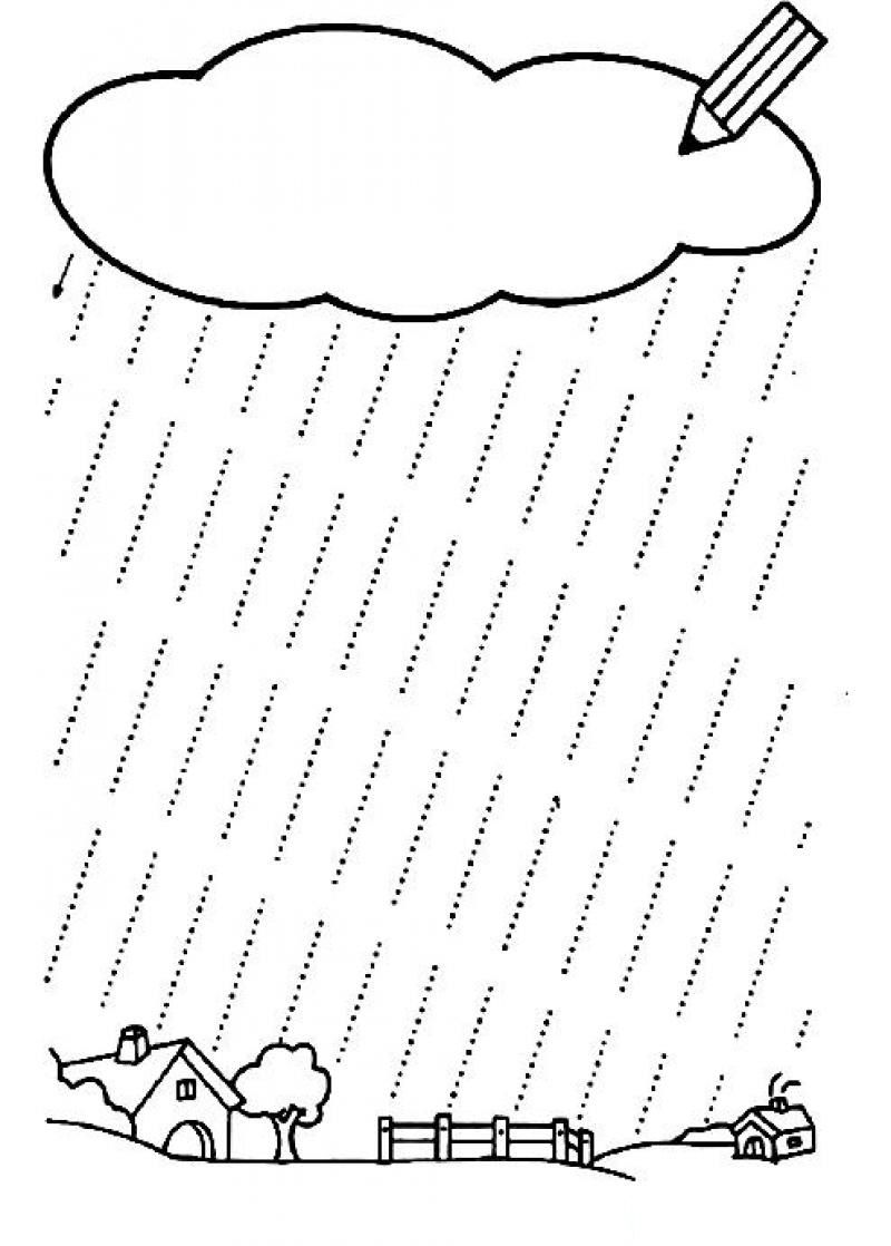 worksheet Rain Worksheets fall tracing worksheet 1 grafomotorika pinterest rain shower lines