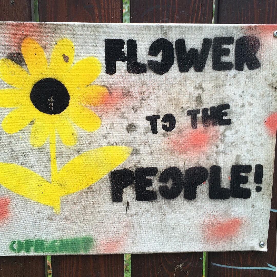 Flower to the people  Dyrk byen sammen  Spotted her @dyrknoerrebro #vesterbro #urbangardening #urbangarden #urbanfarming #nørrebro