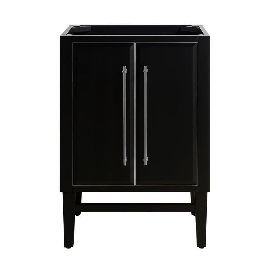 Avanity Mason 24 In Black Bathroom Vanity Cabinet Lowes Com Vanity Cabinet Black Vanity Bathroom 24 Inch Vanity