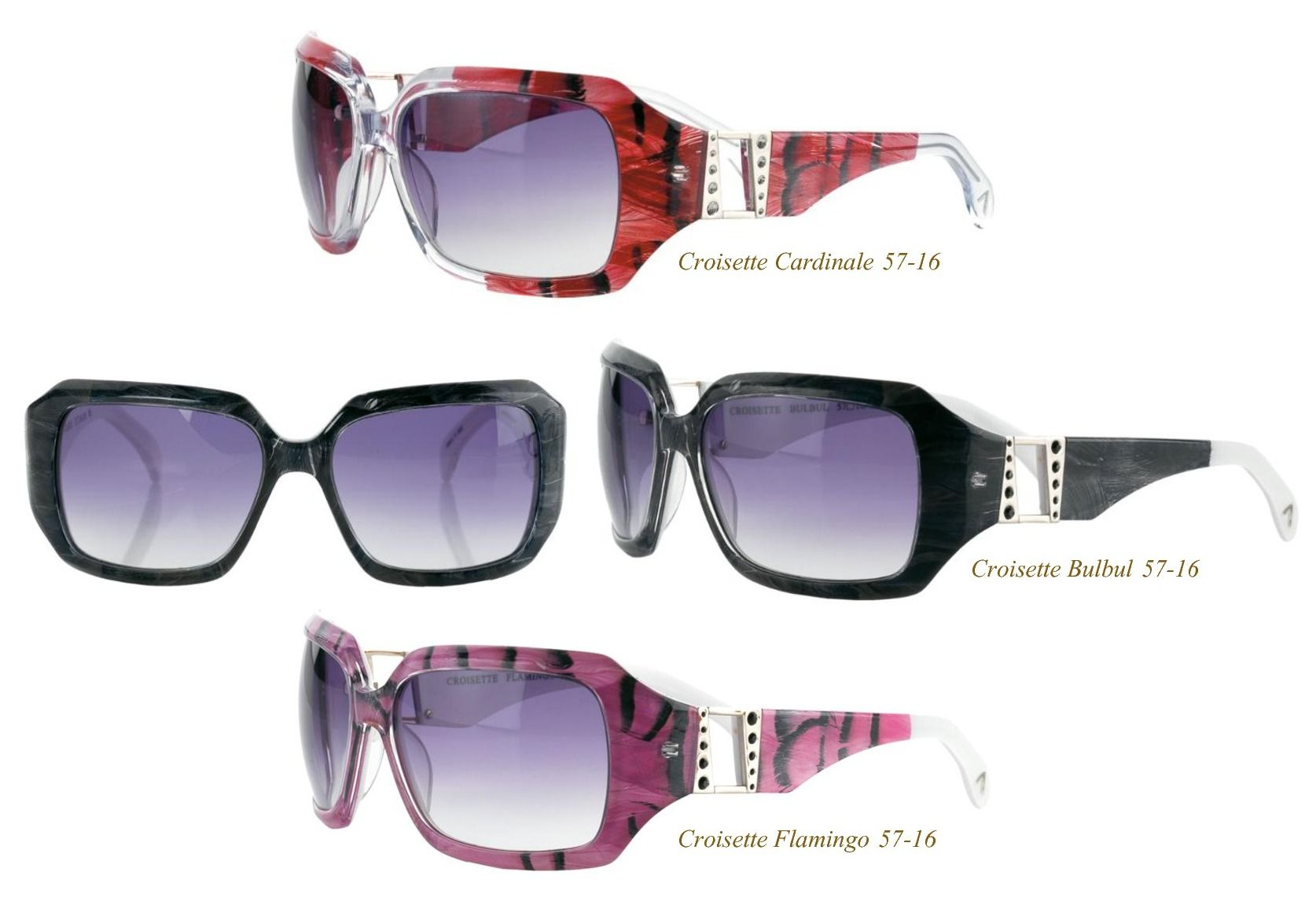 on sale ete croisettes 201 t 233 eyewear with feathers