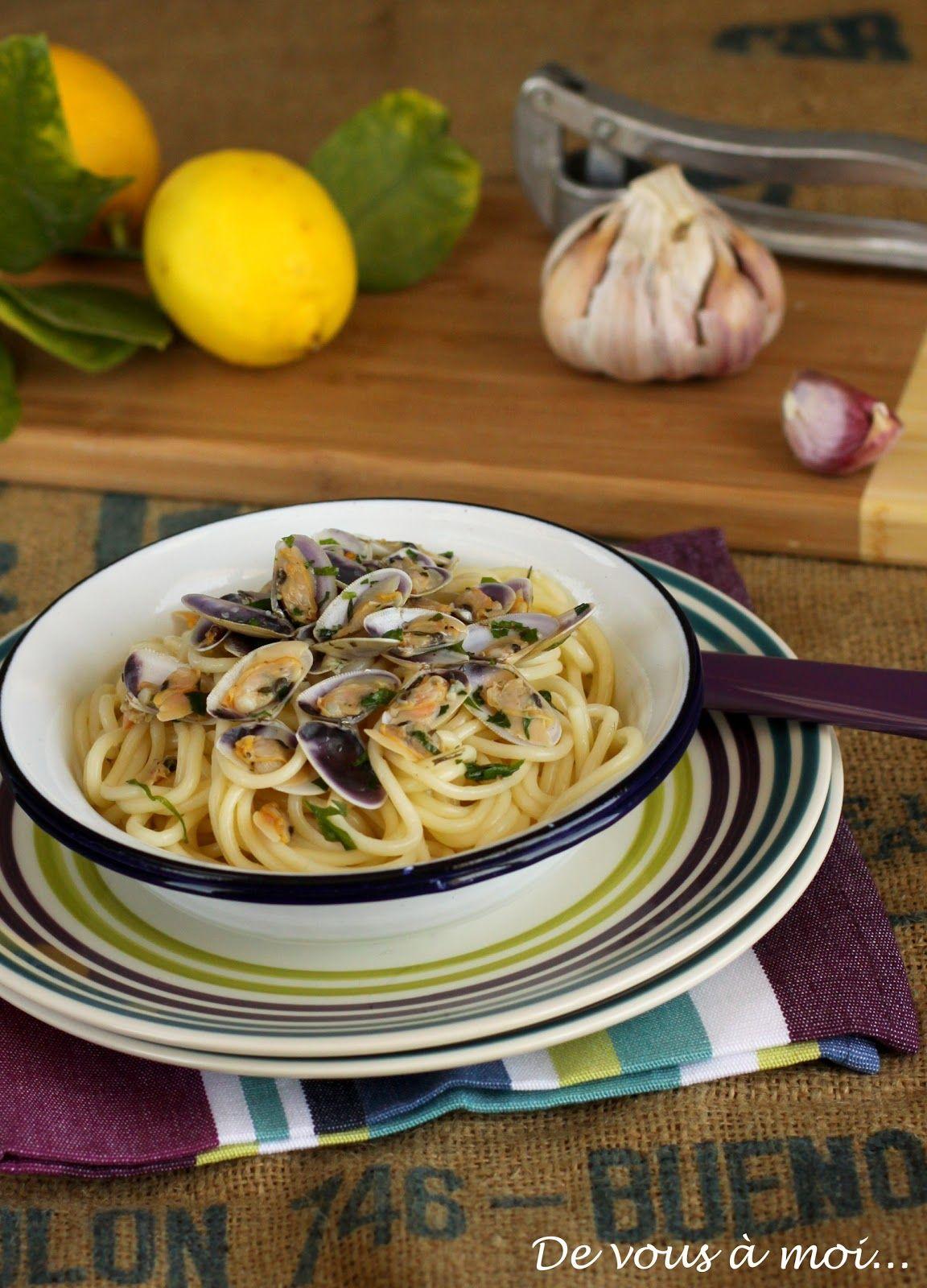 De vous à moi...: Spaghetti aux Tellines, à l'Ail et au Citron