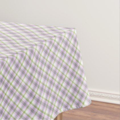 Beautiful Pink Violet Purple Lime Green White Tartan Plaid Tablecloth   Pattern  Sample Design Template Diy Cyo