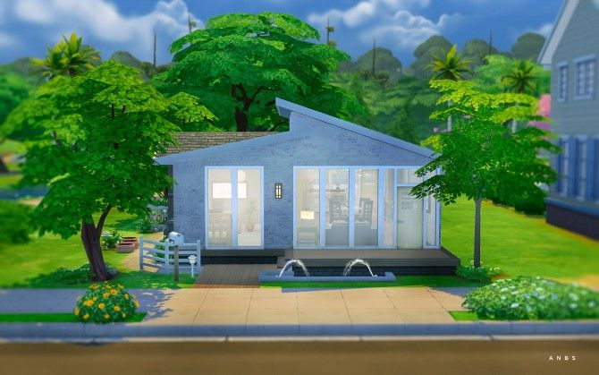 SIMPLE MODERN STARTER at Alachie Brick Sims via Sims 4 Updates