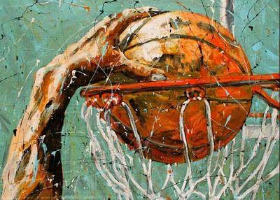 Dunk Shot Lay Up Sports Basketball Painting Art Basketball Painting Basketball Art Sports Painting