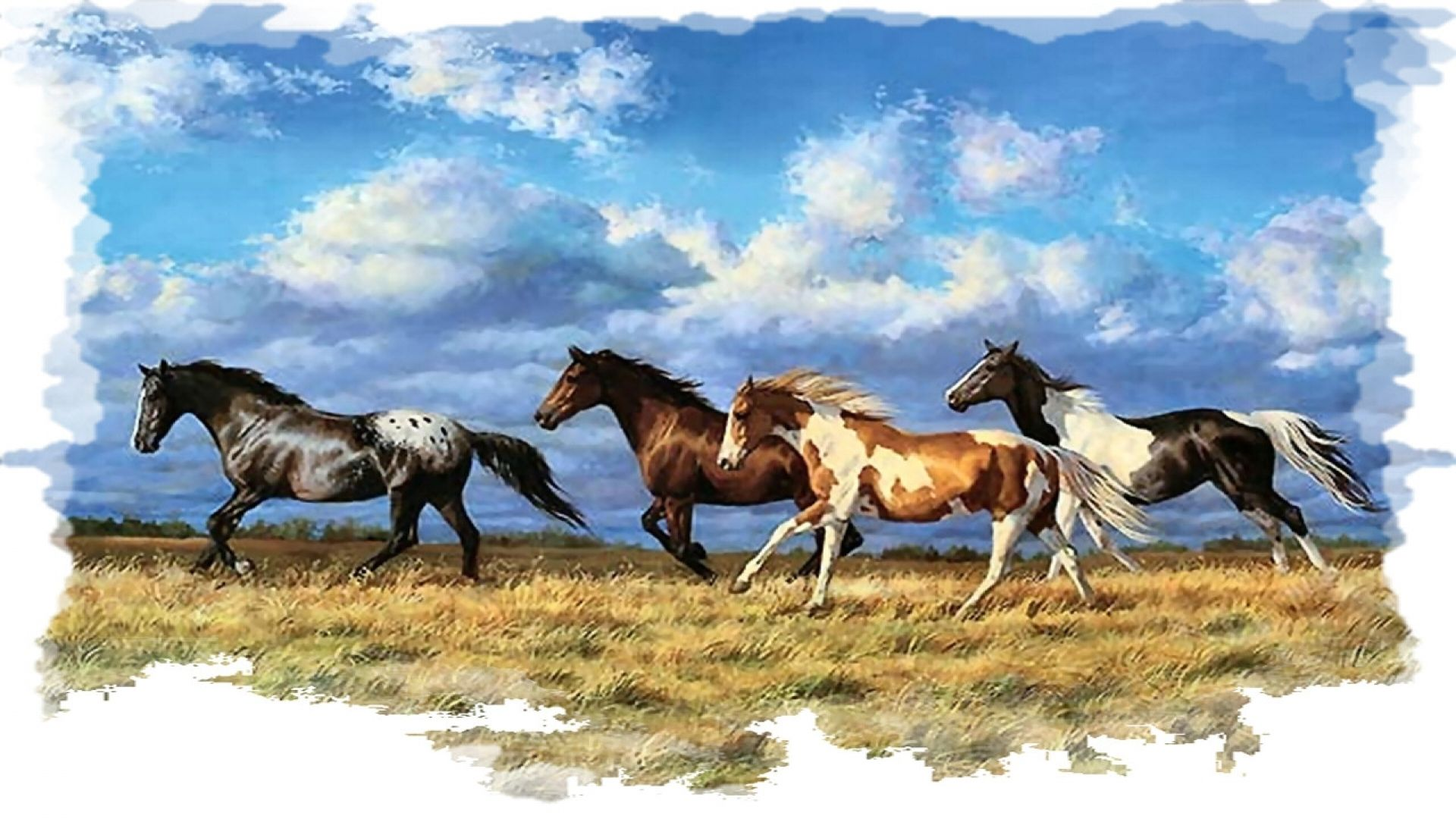 Horse Painting Wallpapers Pictures Images Wild Horses Running Horses Horse Wallpaper