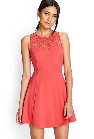 2db12f2cd383 Floral Lace Skater Dress