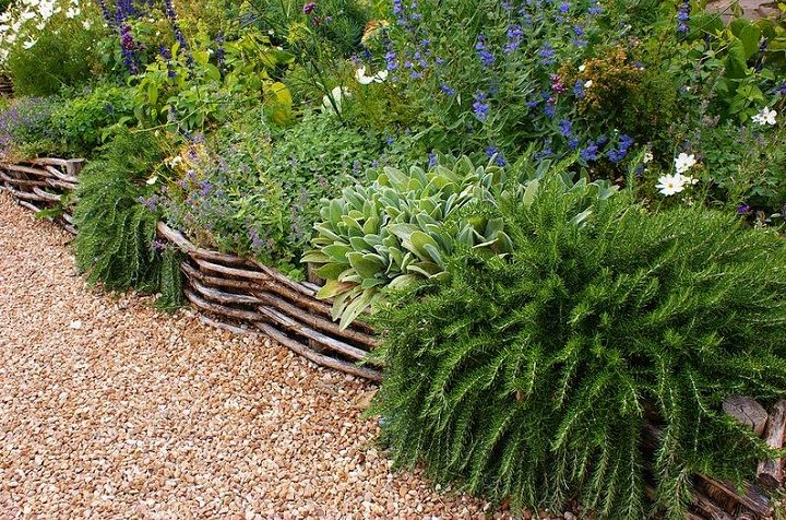 Wattle fencing. I love this idea of building a fence with
