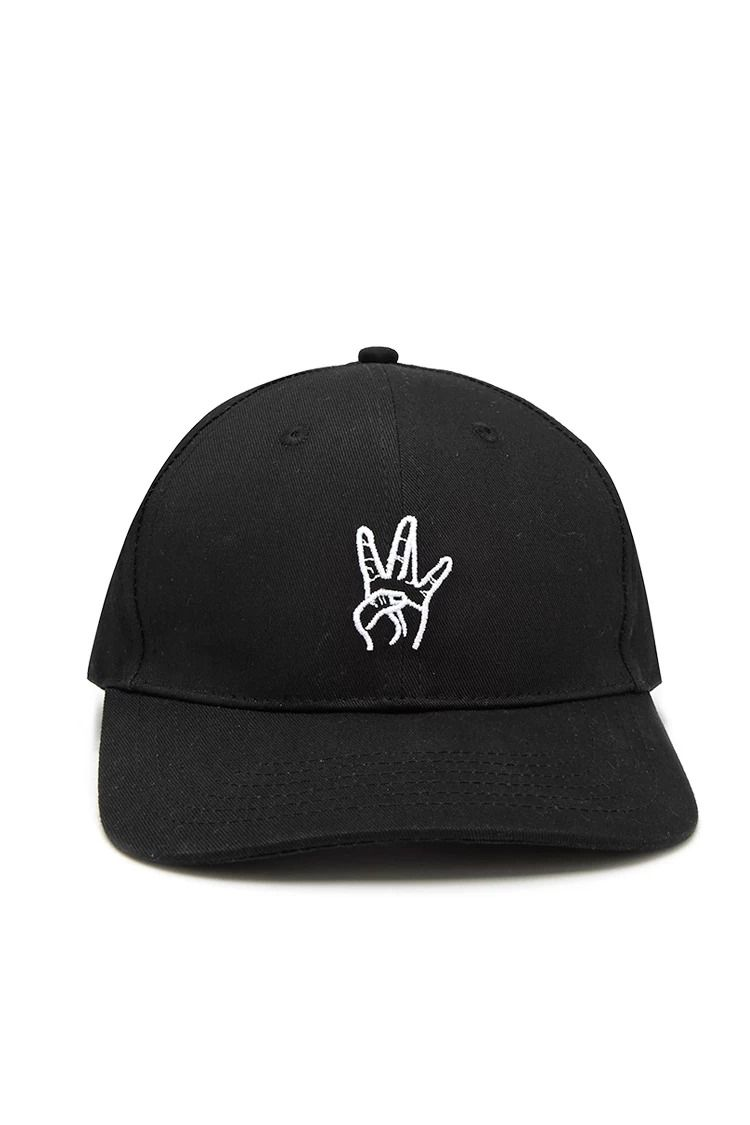 A Woven Baseball Hat Featuring A Stitched West Side Hand Symbol