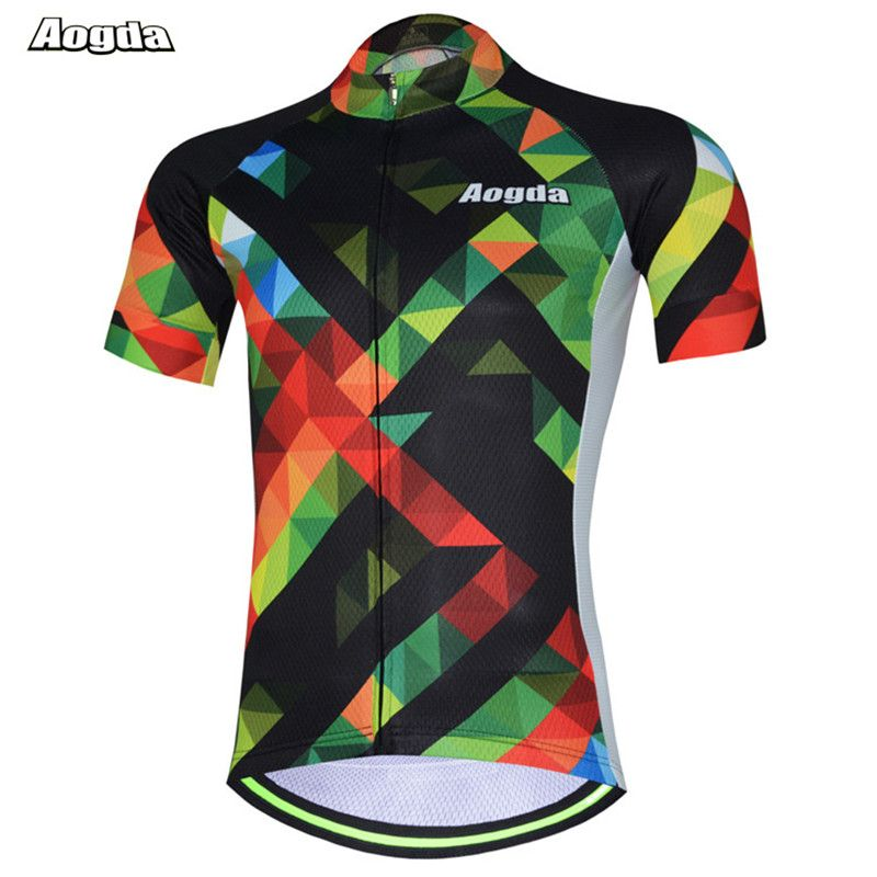 88a955b70 100 Polyester Aogda Cycling Jersey Tops Ropa Ciclismo Pro Cycling Clothing  Summer Bicycle Clothing Maillot MTB
