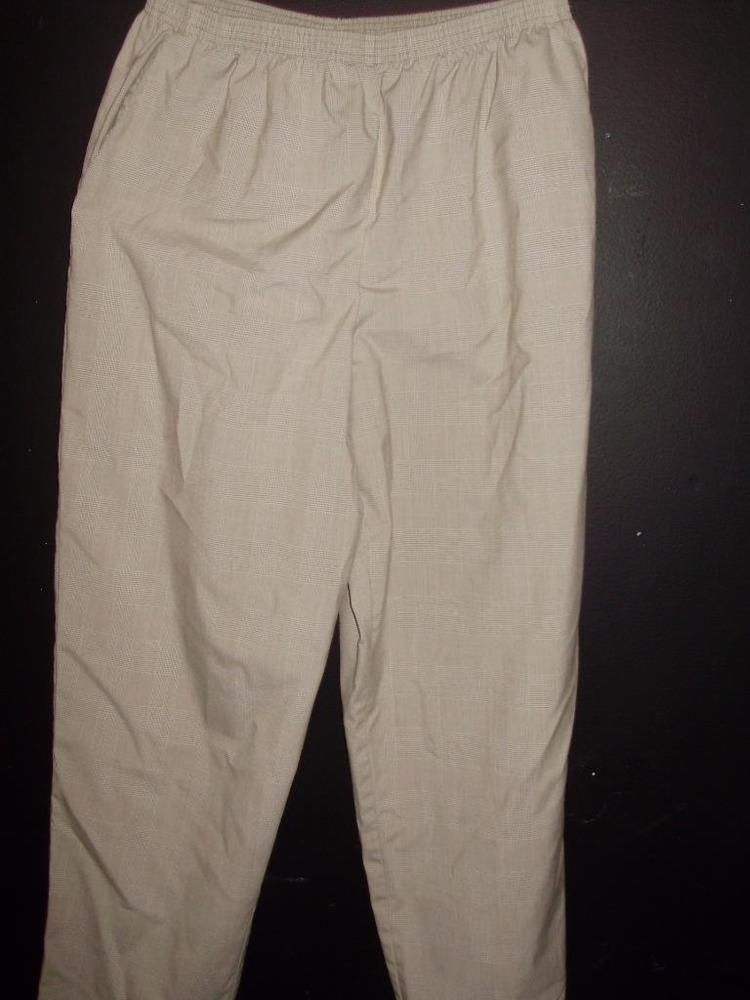 3e6417a62d0 Alfred Dunner Size 18 Womens Tan Plaid Casual Pants  AlfredDunner   CasualPants