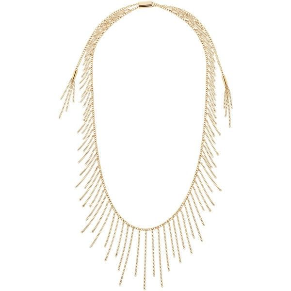 Michael Kors Fringe Statement Necklace, 32 (1,335 SVC) ❤ liked on Polyvore featuring jewelry, necklaces, fringe jewelry, michael kors jewelry, statement necklaces, bib statement necklace and fringe necklace