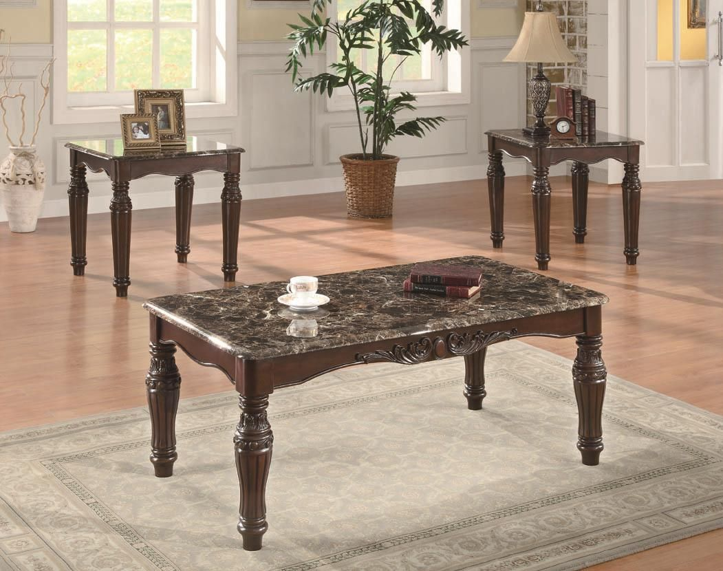 Best 3 Piece Occasional Table Sets 3 Piece Traditional Faux 400 x 300