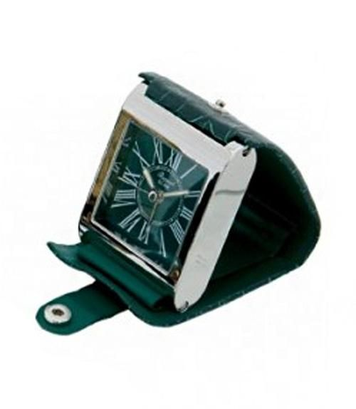 Leather Adventura Travel Alarm Clock.
