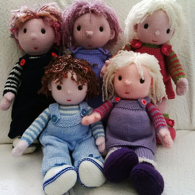 Knitted Rag Doll Patterns The Poppet Dolls Pattern Pat Alinejad ...