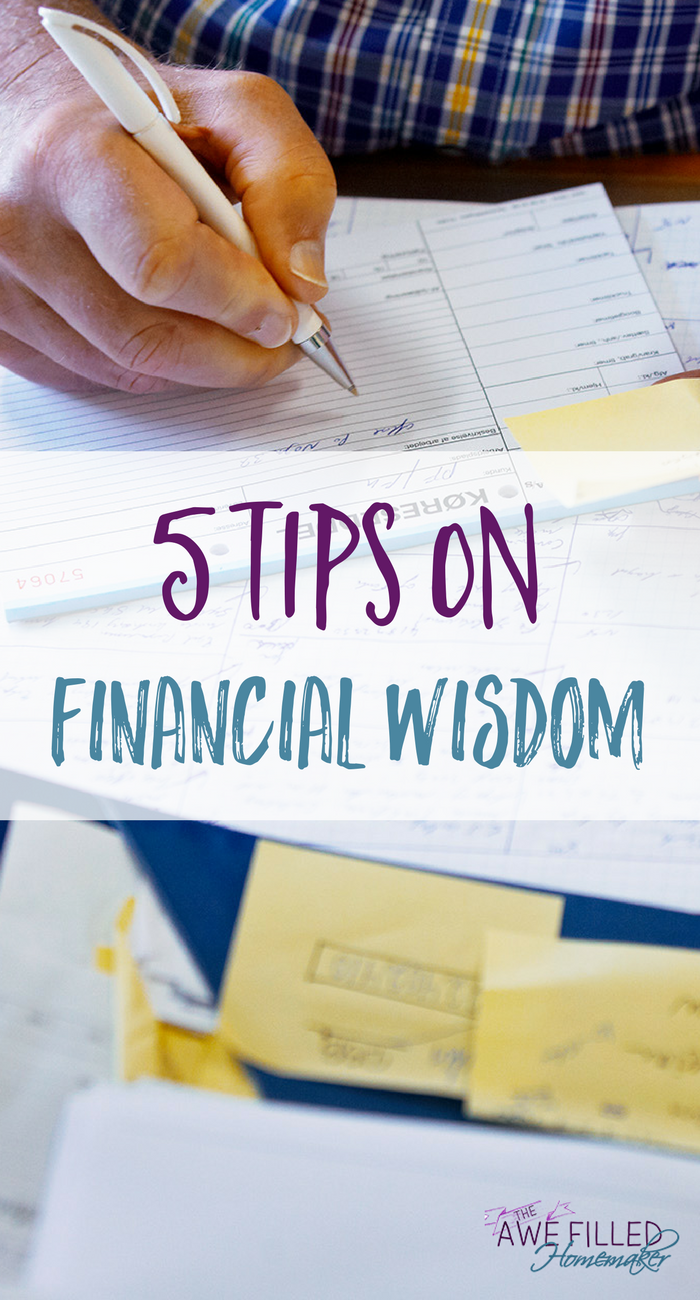Believe it or not the Bible does have a say on finances. Have you taken time yet to do a study on it? Today I am sharing 5 Tips on Financial Wisdom.  via @AFHomemaker