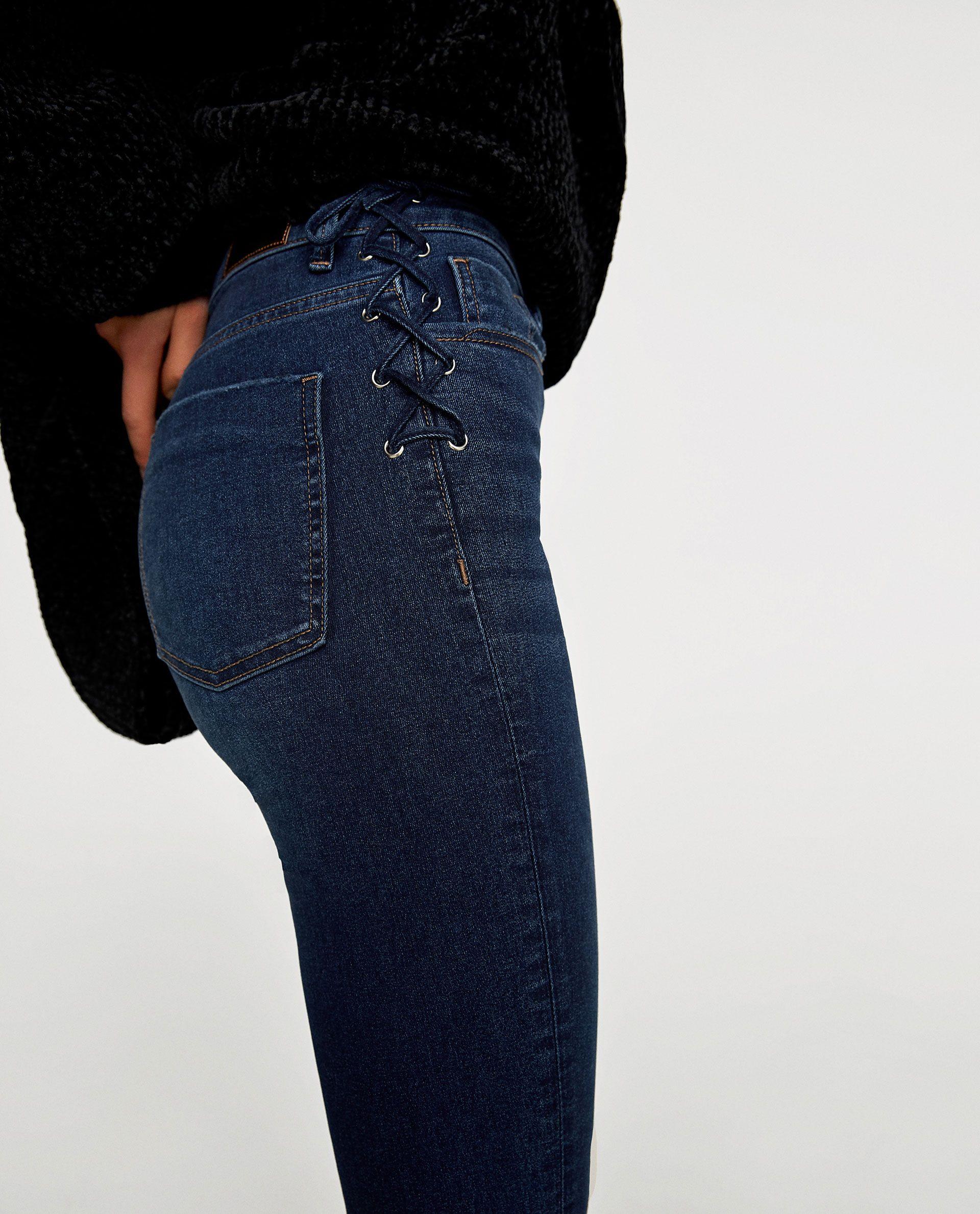 1d1800d63e Image 4 de JEAN TAILLE HAUTE À CORSET de Zara Jeans Taille Haute, Mode Jeans