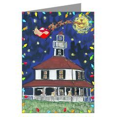 New Orleans Christmas Art Greeting Cards (Pk of 20> Lakeview Christmas Stuff> New Orleans Fig Street Studio